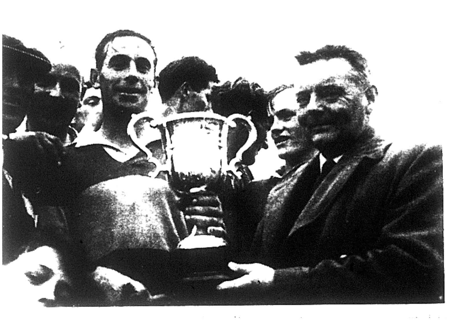 1964 Wexford District Champions, Dan Gallagher accepting the trophy