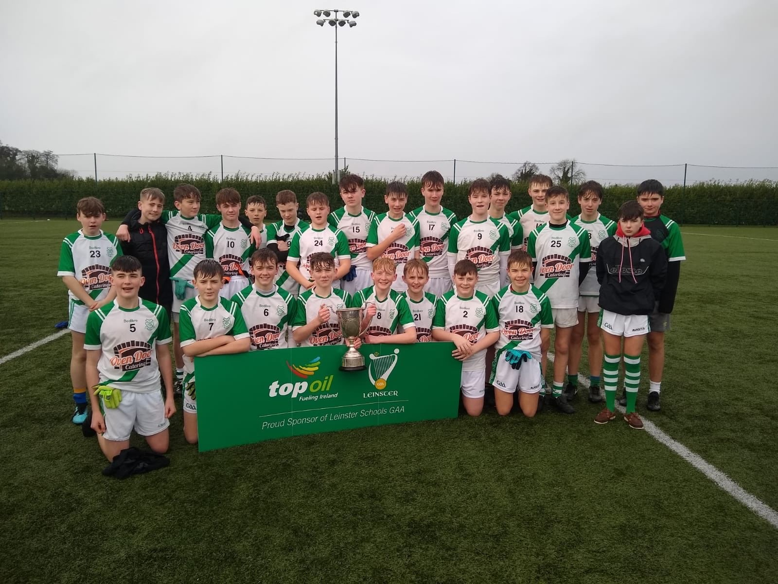 Ultan O'Reilly and Callum Mooney St. Peters Lein A Win Jan 2020