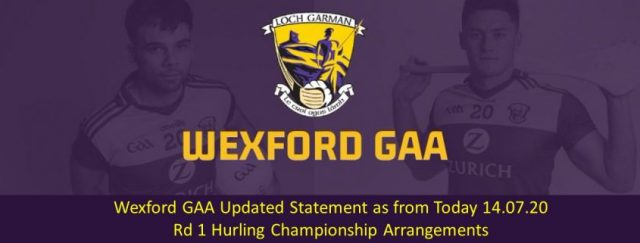 Wexford GAA statement for round 1 hurling games